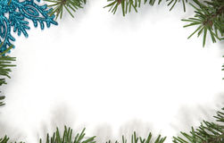 Christmas and New Year frame border background Stock Images