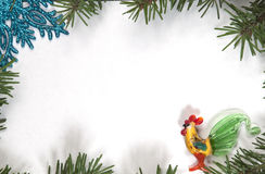 Christmas and New Year frame border background Royalty Free Stock Image