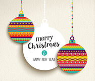 Christmas and new year fun color design bauble Stock Photos