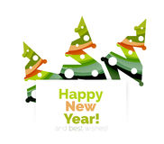 Christmas and New Year geometric banner with text. Vector illustration Stock Photos