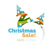 Christmas and New Year geometric banner with text. Vector illustration vector illustration