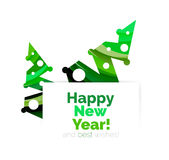 Christmas and New Year geometric banner with text Royalty Free Stock Photo