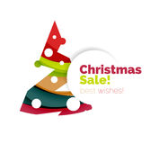 Christmas and New Year geometric banner with text. Vector illustration Royalty Free Stock Photography