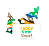 Christmas and New Year geometric banner with text. Vector illustration royalty free illustration