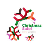 Christmas and New Year geometric banner with text. Vector illustration stock illustration