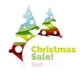 Christmas and New Year geometric banner with text. Vector illustration Royalty Free Stock Photos