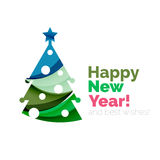 2017 Christmas and New Year Geometric Banner. With white space for text. Greeting card element Stock Photography