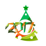 2017 Christmas and New Year Geometric Banner Stock Photos