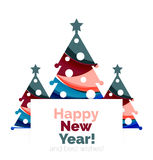 2017 Christmas and New Year Geometric Banner Royalty Free Stock Images