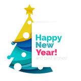 2017 Christmas and New Year Geometric Banner. With white space for text. Greeting card element Royalty Free Stock Image