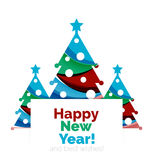 2017 Christmas and New Year Geometric Banner. With white space for text. Greeting card element Royalty Free Stock Images
