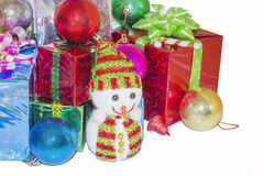 Christmas New Year gift Stock Photo