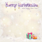 Christmas and the new year with gift boxes. Greeting card for Christmas and the new year with gift boxes royalty free illustration