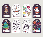 Christmas and New Year gift tags and cards. Royalty Free Stock Photography