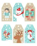 Christmas and new year gift tags Royalty Free Stock Photo