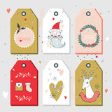 Christmas New Year gift tags collection Stock Image