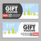 christmas and new year gift voucher certificate coupon template. can be use for business shopping card, customer sale and promotio Royalty Free Stock Photography