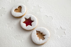 2017 Christmas and new year gingerbread cookies Royalty Free Stock Image