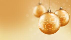 Christmas and new year gold balls background Stock Photo