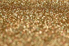 Christmas New Year Gold and Silver Glitter background. Holiday abstract texture Stock Photo