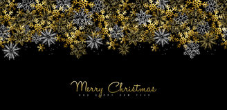 Christmas and New Year gold social media cover Royalty Free Stock Images