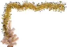 Christmas (or new year) golden Stock Images