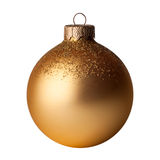 Christmas, New year golden ball. Royalty Free Stock Images