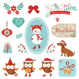 Christmas and new year graphic elements Royalty Free Stock Photo