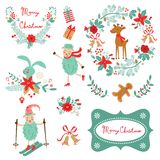 Christmas and new year graphic elements Royalty Free Stock Photos