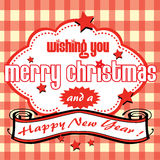 Christmas and New Year greeting Stock Image
