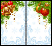 Christmas and New Year greeting card. Vector Christmas and New Year greeting card Stock Photo