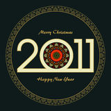 Christmas and new year greeting card. Design of new year greeting card Stock Image