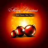 Christmas, New Year greeting card Royalty Free Stock Image