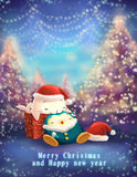 Christmas and new year greeting card royalty free illustration