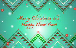 Christmas and new year greeting card. In beautiful patterns Stock Photo