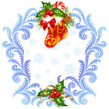 Christmas and New Year greeting card 3 vector illustration