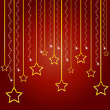 Christmas and New Year greeting card. 2016 royalty free illustration