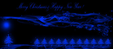 Christmas and new year greeting card. Blue christmas and new year greeting card Royalty Free Stock Photography