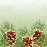 Christmas and New Year greeting card or background Stock Image