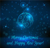 Christmas and New Year greeting card Royalty Free Stock Images
