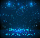 Christmas and New Year greeting card Royalty Free Stock Photography