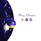 Christmas and new year greeting card with baubles and place for text Royalty Free Stock Image