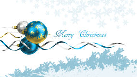 Christmas and new year greeting card with baubles and space for text Royalty Free Stock Images