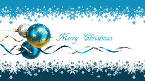 Christmas and new year greeting card with baubles and space for text Royalty Free Stock Photo