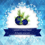 Christmas and new year greeting card with christmas decoration Royalty Free Stock Photography