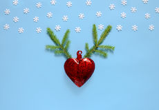 Christmas or New Year holidays greeting card concept Stock Image