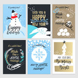 Christmas and New year greeting card concepts Royalty Free Stock Photography