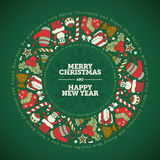 Christmas and New Year Greeting Card Design Template Royalty Free Stock Photos