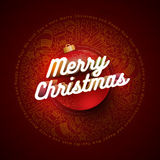Christmas and New Year Greeting Card Design Template Royalty Free Stock Photography