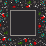 Christmas and New year Greeting Card Royalty Free Stock Photo